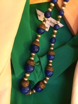 Necklace: Czechoslovakian, Lapis Lazuli Bead, 1930s