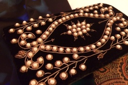 Bag: Faux Pearl, Copper Wire and Velvet, 1940s