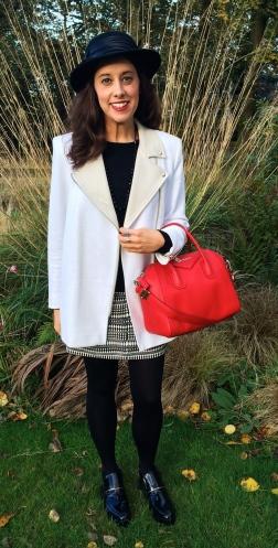 Jacket: Sandro Bag: Givenchy Boots: Zara