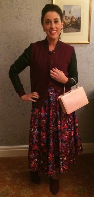 Jacket: Forever 21 Dress: 1950s, Bowler Vintage Shoes: Aldo Bag: Andrew Geller, 1950s, Incogneeto Vintage