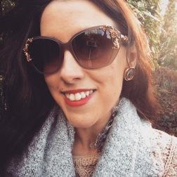 Earrings: Monet, 1980s, Gemma Redmond Vintage Sunglasses: Dolce and Gabbana Scarf: Zara