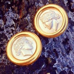 Earrings: Monet, 1980s, Gemma Redmond Vintage