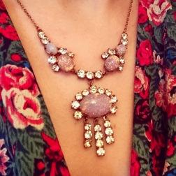 Necklace: Edwardian, Gemma Redmond Vintage Top: Marks and Spencer, 1970s, Vintage Fair