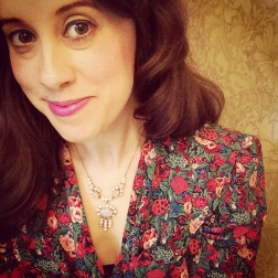 Necklace: Edwardian, Gemma Redmond Vintage Top: Marks and Spencer, 1970s, Vintage Fair