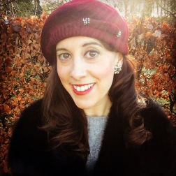 Earrings: 1940s, Gemma Redmond Vintage Hat: 1940S, Vintage Fair Jacket: 1960s, The Vintage Fur Company Jumper: Zara