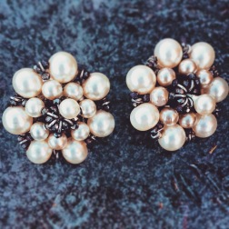Earrings: 1940s, Gemma Redmond Vintage