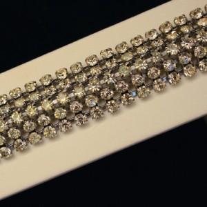 Five Row Diamante Bracelet