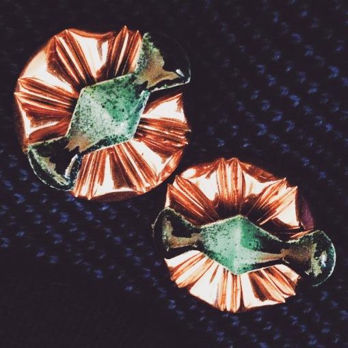 Earrings: Renoir Matisse, 1960s, Gemma Redmond Vintage