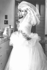 Image: Madonna on her wedding day to Sean Penn - bohemea.tumblr.com